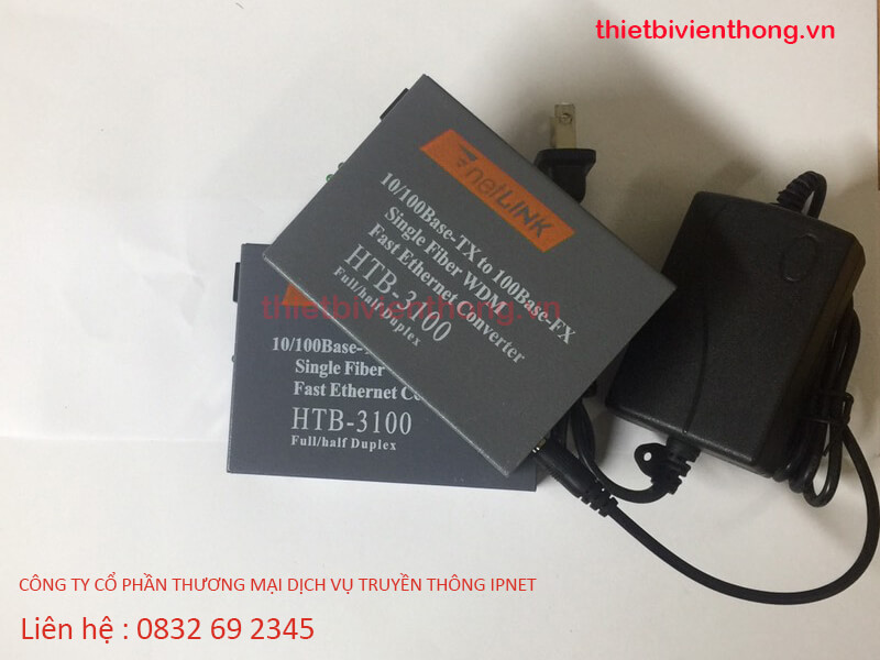 Converter quang HTB-3100 A/B 25Km NetLink