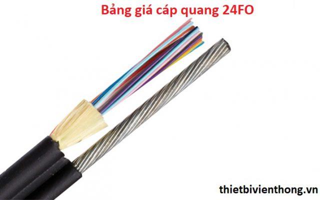 Bảng giá cáp quang 24fo