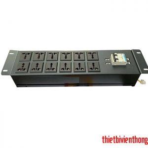 Thanh nguồn PDU 12 ổ cắm 3 chấu có MCB 2P 32A