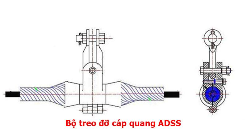 Bộ treo cáp quang ADSS kv500