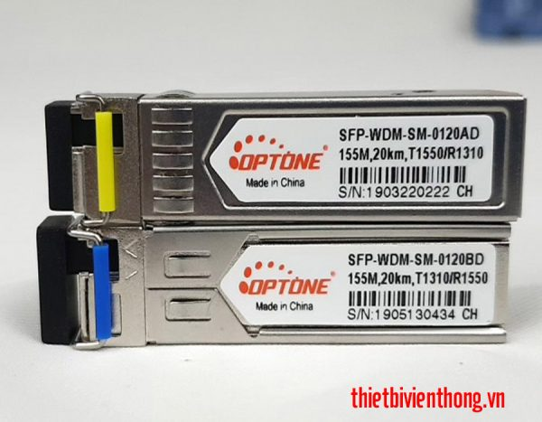Module quang Optone 1 sợi SFP-WDM-SM-0120AD/BD