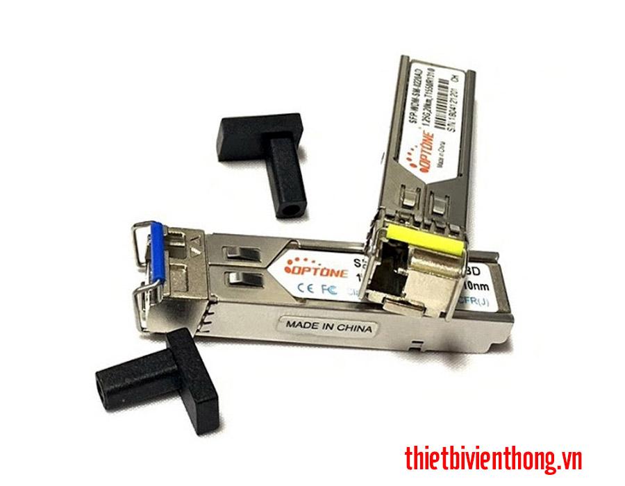 Module quang Optone 1 sợi SFP-WDM-SM-0220AD/BD 1.25G