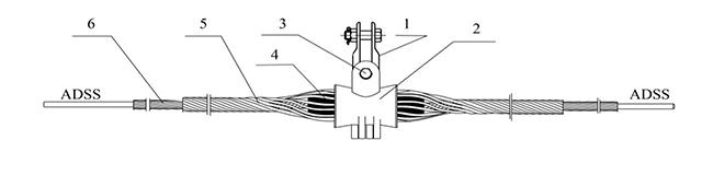 Cấu tạo bộ treo cáp quang