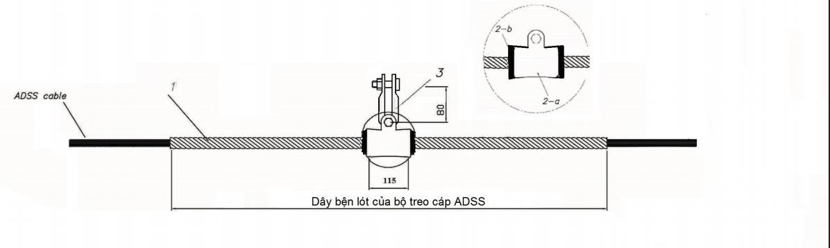 Bộ treo cáp quang ADSS KV200