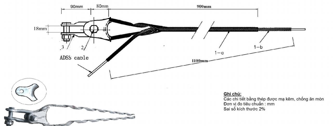 Bộ néo cáp quang ADSS KV200